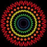 Ένα σύνολο στρογγυλών πλαισίων των διαφορετικών χρωμάτων για τη διακόσμηση Στοκ Εικόνες
