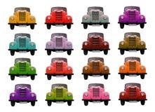 Ένα σύνολο φορτηγών του χρώματος. Στοκ Εικόνα