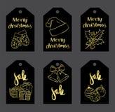 Ένα σύνολο Χριστουγέννων αντιτίθεται - ένα στεφάνι, σφαίρες, διακοσμήσεις, δώρα, κάλτσες, μπότες Στοκ Φωτογραφίες