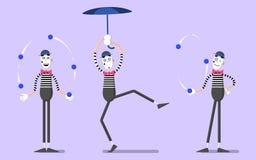Ένα σύνολο mimes 04 Στοκ Εικόνες