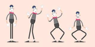 Ένα σύνολο mimes 01 Στοκ Εικόνες