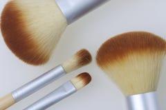 Ένα σύνολο βουρτσών μπαμπού για να ισχύσει makeup Στοκ Εικόνες