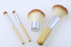 Ένα σύνολο βουρτσών μπαμπού για να ισχύσει makeup Στοκ φωτογραφία με δικαίωμα ελεύθερης χρήσης