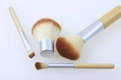 Ένα σύνολο βουρτσών μπαμπού για να ισχύσει makeup Στοκ Εικόνα