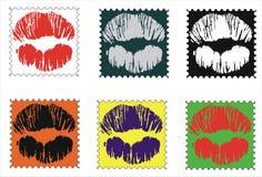 Γραμματόσημο φιλιών Στοκ φωτογραφία με δικαίωμα ελεύθερης χρήσης