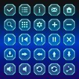 Ένα σύνολο διαφανών κουμπιών Στοκ Εικόνες
