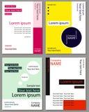Ένα σύνολο καρτών για το κείμενο Στοκ εικόνα με δικαίωμα ελεύθερης χρήσης