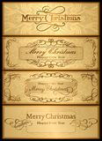 Ένα σύνολο καρτών Χριστουγέννων. 04 (διάνυσμα) Στοκ εικόνα με δικαίωμα ελεύθερης χρήσης