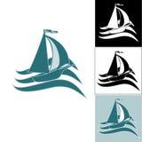 Ένα σύνολο λογότυπων σκαφών Στοκ Φωτογραφίες