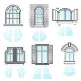 Ένα σύνολο παραθύρων vector2 Στοκ εικόνες με δικαίωμα ελεύθερης χρήσης