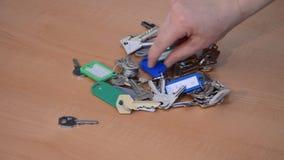 Ένα σύνολο περίπτωσης των κλειδιών απόθεμα βίντεο