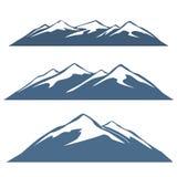 Ένα σύνολο σειρών βουνών Στοκ Εικόνες