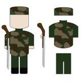 Ένα σύνολο στρατιωτικού Στοκ Εικόνα