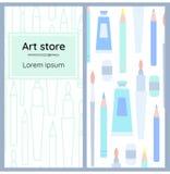 Ένα σύνολο φυλλάδιων για το κατάστημα τέχνης Στοκ φωτογραφίες με δικαίωμα ελεύθερης χρήσης