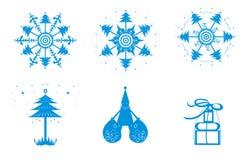 ένα σύνολο χιονιού Χριστουγέννων Στοκ εικόνα με δικαίωμα ελεύθερης χρήσης