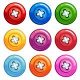 Ένα σύνολο χρωματισμένων κουμπιών Στοκ Εικόνα
