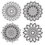 Ένα σύνολο όμορφων mandalas και κύκλων δαντελλών Στοκ εικόνες με δικαίωμα ελεύθερης χρήσης