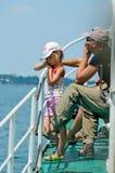 Ένα ταξίδι στη βάρκα τουριστών Στοκ Εικόνες
