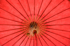 Ένα ταϊλανδικό χρώμα 2 beautifu ομπρελών χειροποίητο Στοκ φωτογραφία με δικαίωμα ελεύθερης χρήσης