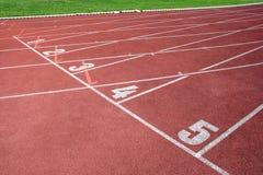 Ένα τεμάχιο μιας διαδρομής αθλητισμού στοκ φωτογραφία με δικαίωμα ελεύθερης χρήσης