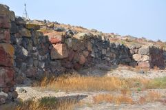 Ένα τμήμα του τοίχου Metsamor _ Στοκ εικόνα με δικαίωμα ελεύθερης χρήσης