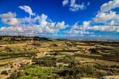 Ένα τοπίο που λαμβάνεται της Μάλτα από Mdina στοκ φωτογραφίες