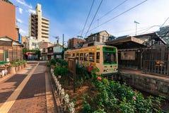 Ένα τραμ του Τόκιο σε Minowabashi Στοκ Εικόνες