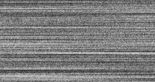 Ένα τρεμούλιασμα, αναλογικό σήμα TV με το κακό υπόβαθρο θορύβου παρέμβασης φιλμ μικρού μήκους
