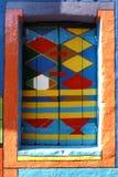 Ένα τρελλό χρωματισμένο παράθυρο κοντά στη Βενετία Στοκ φωτογραφία με δικαίωμα ελεύθερης χρήσης