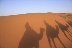 Ένα τροχόσπιτο των καμηλών στην έρημο Στοκ φωτογραφίες με δικαίωμα ελεύθερης χρήσης