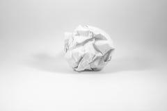 Ένα τσαλακωμένο φύλλο του εγγράφου Στοκ εικόνα με δικαίωμα ελεύθερης χρήσης