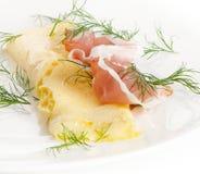 Ένα υγιές πρόγευμα. Omelett. Στοκ Εικόνες