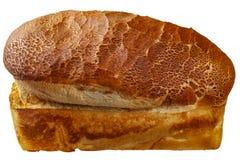 Ένα υποστηριγμένο μεγάλο ψωμί που απομονώνεται πέρα από το λευκό με το ψαλίδισμα της πορείας Στοκ εικόνες με δικαίωμα ελεύθερης χρήσης