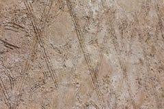 Ένα υπόβαθρο που αποτελείται από τις γεωμετρικές μορφές Ένας τοίχος των καφετιών rhombuses Στοκ εικόνα με δικαίωμα ελεύθερης χρήσης
