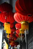 Ένα φανάρι πωλεί στο κατάστημα κατά τη διάρκεια του νέου έτους Chiness Στοκ Εικόνες