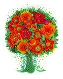 Ένα φανταστικό δέντρο-λουλούδι φαντασίας Στοκ Εικόνα