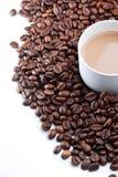 Ένα φασόλι φλιτζανιών του καφέ & καφέ Στοκ Φωτογραφίες