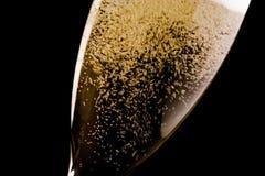 Ένα φλάουτο με πολλές χρυσές φυσαλίδες Στοκ εικόνες με δικαίωμα ελεύθερης χρήσης