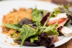 Ένα φρέσκο σπίτι έκανε το αυθεντικό πιάτο tapas ρυζιού paella Στοκ φωτογραφία με δικαίωμα ελεύθερης χρήσης