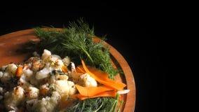 Ένα φυτικό κουνουπίδι λάχανων φιλμ μικρού μήκους