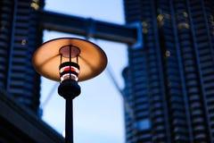 Ένα φως στους δίδυμους πύργους της Κουάλα Λουμπούρ, Κουάλα Λουμπούρ Μαλαισία Στοκ Φωτογραφίες