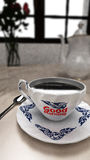 Ένα φλιτζάνι του καφέ, καλημέρα Στοκ Εικόνα