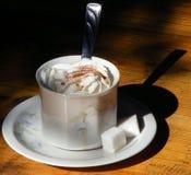 Ένα φλιτζάνι του καφέ την άνοιξη Στοκ Εικόνες