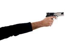 Ένα χέρι κρατά ένα πυροβόλο όπλο Στοκ φωτογραφία με δικαίωμα ελεύθερης χρήσης
