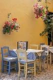 Ένα χαρακτηριστικό ελληνικό taverna Στοκ Εικόνες