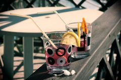 Ένα χαρακτηριστικό ποτό από τους παλαιούς χρόνους για των ατόμων Στοκ Φωτογραφία