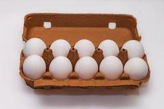 Ένα χαρτοκιβώτιο δέκα αυγών Στοκ Εικόνες