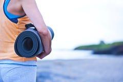 Ένα χαλί γιόγκας Στοκ Φωτογραφίες