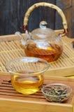 Το κινεζικό τσάι καθορισμένο και Yunnan το χρυσό τσάι Στοκ φωτογραφίες με δικαίωμα ελεύθερης χρήσης