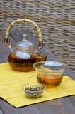 Το κινεζικό τσάι καθορισμένο και Yunnan το χρυσό τσάι Στοκ Εικόνα